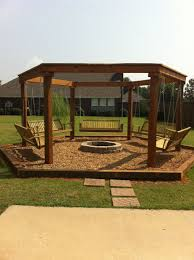 Firepit Swing Outdoor Pit With Swings Outdoor Firepit Pinterest