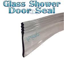 glass shower door splash guard transparent door seal u0026 100cm gedotec glass door shower door seal