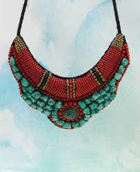 bib necklace beaded images Turquoise bead tibetan tribal bib necklace cultural elements jpg