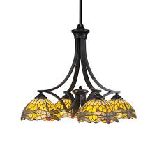 Toltec Lighting Toltec Lighting Chandeliers Style Tiffany Art Glass Stained