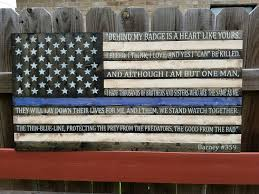 Black And Blue Flag Thin Blue Line Flag W End Of Watch Quote