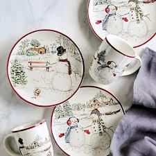 snowman dinnerware collection williams sonoma