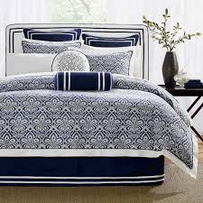 best dark blue bedding comforter set with dark blue white stripe