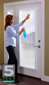How To Hang Blinds On A Door Add On Enclosed Mini Blinds Add On Door Blinds Western Reflections