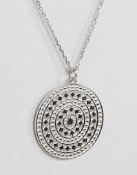 large silver necklace pendants images Carrie elizabeth carrie elizabeth sterling silver large aztec
