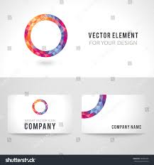 business card template set bright picture stock vector 289584464