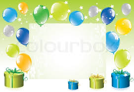 balloons gift vector colorful festive balloons and gift boxes stock vector