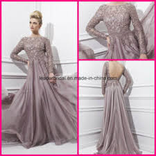 china long sleeve prom party dress backless a line fashion women