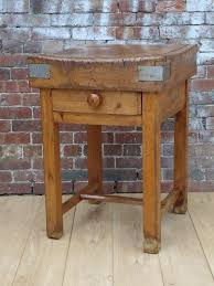 rustic antique french butchers block on stand interior boutiques