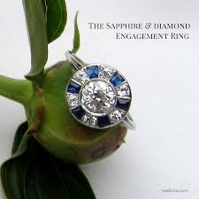 the diamond sapphire engagement ring