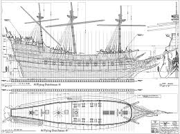ship blueprint nautical technical drawing of by empressionista