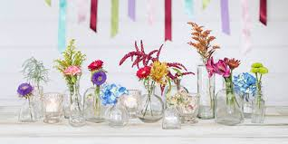 bud vase garland glass bud vase bottle 2 75 in x 3 25 in clear 12 pack