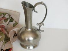 Metal Jug Vase Pewter Jug Vase German Vintage Pewter Jug By Ligonaccessories