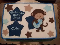 monkey rockstar baby shower cake cakecentral com