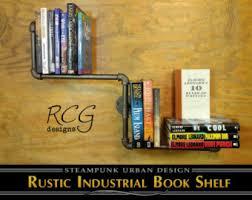 pipe bookshelf etsy