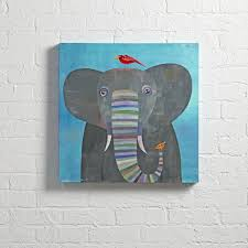 elephant colorful wall art the land of nod