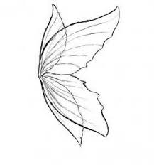 classic black fairy wings tattoo design