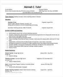 Art Teacher Resume Template 25 Teacher Resume Formats Free U0026 Premium Templates