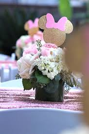 minnie mouse center pieces kara s party ideas glamorous floral minnie mouse birthday party