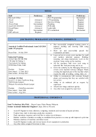 Proficient In Microsoft Office Resume Resume Taufik 07 07 15