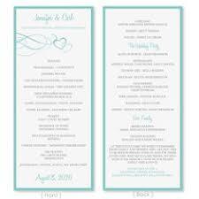 tea length wedding program template wedding program template vintage navy blue editable word