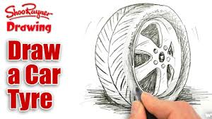 how to draw a car tire tyre spoken tutorial youtube