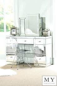 Glass Vanity Table With Mirror Glass Vanity Table Impressive Glass Vanity Table View For Lighting