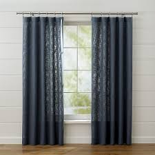 Navy Curtain Linstrom Navy Blue Curtain Panels Crate And Barrel