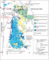 Bitterroot Mountains Map Isotopic Evolution Of The Idaho Batholith And Challis Intrusive