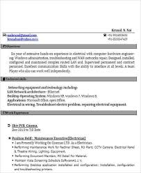 Resume For Iti Electrician Iti Resume Format Automobile Resume Template 22 Free Word Pdf