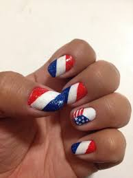 nail design red white blue beautify themselves with sweet nails