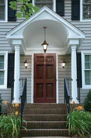 Colonial Awnings Center Hall Colonial With Front Door Cover Google Search Home