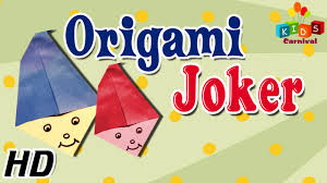 origami how to make joker clown simple tutorials in english