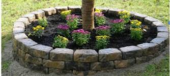 brick edging flower garden ortega lawn care