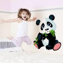 wandtattoo kinderzimmer naschender panda