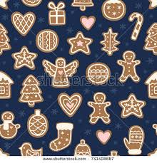 set 25 realistic gingerbread christmas cookies stock vector