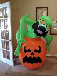 gemmy prototype airblown inflatable halloween neon pumpkin 64665