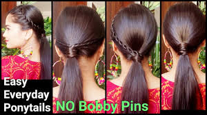 3 easy everyday ponytail hairstyles for medium to long hair for