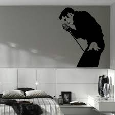 online get cheap bedroom wall stencils aliexpress com alibaba group classic elvis presley large bedroom wall mural art sticker stencil decal matt vinyl d177