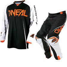 o neal motocross gear oneal mayhem lite 2017 blocker motocross jersey u0026 pants black