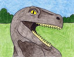 draw a dinosaur head art projects for kids