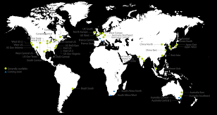 Asia World Map by Azure Regions Microsoft Azure