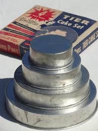 wedding cake pans vintage wedding cake pans in original box tier tiered pans set