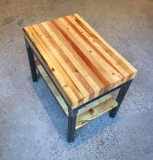 reclaimed wood grand boulevard end table workshop