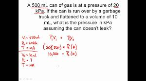solving combined gas law problems charles u0027 law boyle u0027s law
