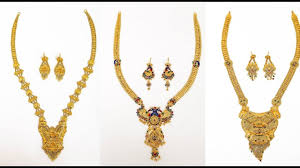 gold rani haar sets 22 carat gold rani haar designs gold necklace with earrings set