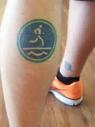 running tattoo is permanent reminder to pursue health for one