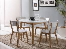 round dining room table sets modern white round dining table set for 4 eva furniture intended for