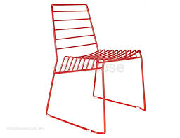 Red Metal Chair Contemporary Wire Dining Chair In Red Outdoor Red Metal Cafe Chair