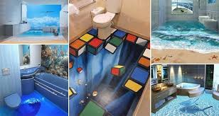 3d bathroom design 13 3d bathroom floor designs that will mess with your mind